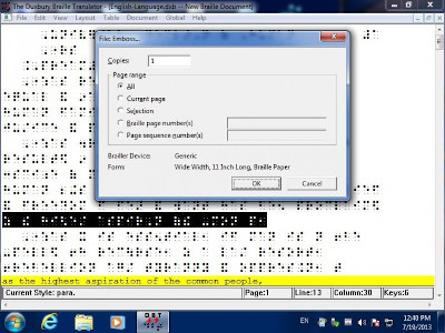 Duxbury Braille Translator Upgrade in Windows