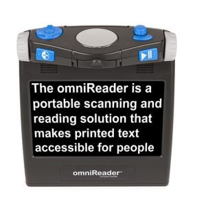 OmniReader front with text