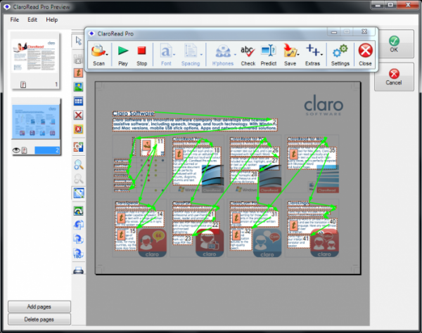 Claro software scanning