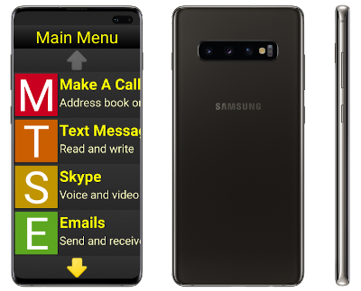 Synapptic Gold 30 Phone, front side and back