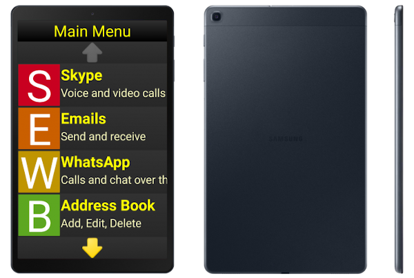 Synapptic Silver Tablet front and back