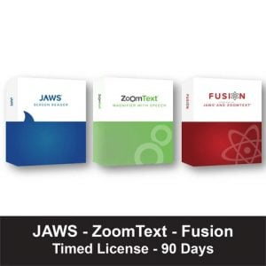 Timed Licence for JAWS, ZoomText, Fusion
