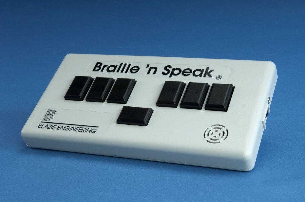 Image of braille n speak device